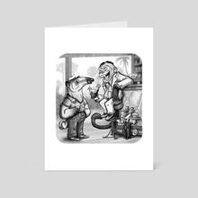 Tamandua's joke - Art Card by Stieven van der Poorten