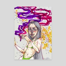 blunt smoke purple - Canvas by Annelisa Hermosilla