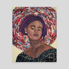 Portraits of Black Women I Have Yet to Name: XIII - Canvas by the monarq