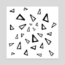 Triangles - Canvas by Nika Akin