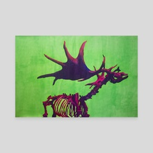 Giant Irish Elk - Canvas by Katrīna Tračuma