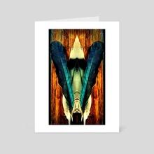 Blue Bird - Art Card by Allison  McKinley