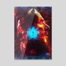 Chaos Multiverse - Acrylic by Valentin Romero