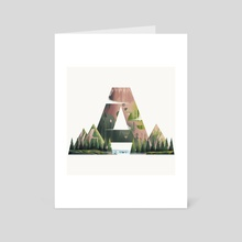 Above The Mountains - Art Card by Sharath Raj