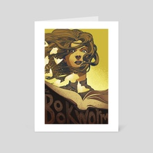 The Bookworm - Art Card by rob gale
