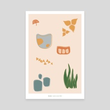 garden / poster series #004 - Canvas by Heather Patterson