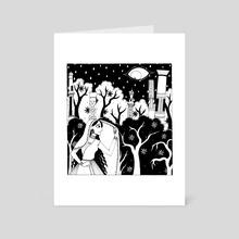 Hidden - Art Card by Evelyne Callaert