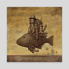 Steam Fish - Canvas by Frank Walls