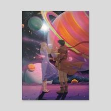 your space - Acrylic by zara Kim