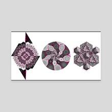 Diamond Flowers - Set 1 - Canvas by Else