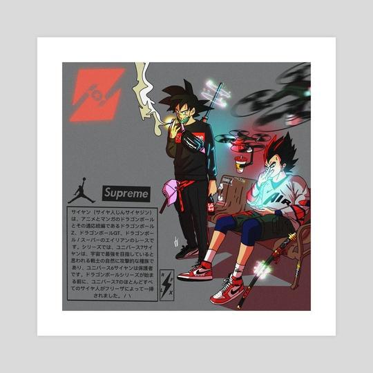 Goku & Vegeta ( DBZ )  by Reflex