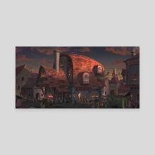 The smoke pine tavern - Canvas by Asanee Srikijvilaikul