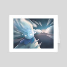 Cloud man - Art Card by Erica Bortoloso