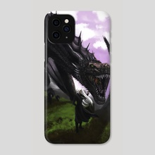 Girl and Dragon - Phone Case by Efrain Sosa
