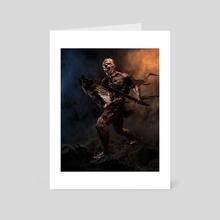 Inhuman Shield - Art Card by DAMNENGINE