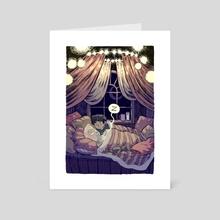 Ghost Sleepover - Art Card by Maria Frantz