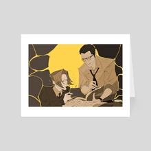 miles and gregory studying (without speech bubbles) - Art Card by Aemiron