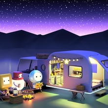 Camping Night - Canvas by clueme ain