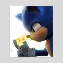 Sonic - Canvas by Azmat Munshi