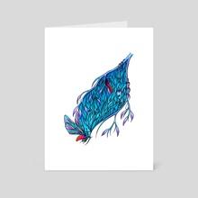 Blue - Art Card by Jessica McGrath