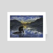 Fishing - Art Card by Jonathan Dodd