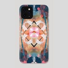 Floral angelic abstract rennaisance pattern - Phone Case by Mihalis Athanasopoulos