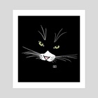 Pinky Cat - Art Print by Work of Art Studios