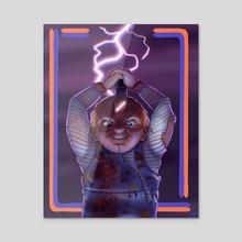 Chucky  - Acrylic by Jackson Duca