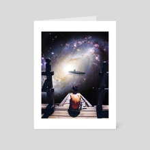 Watching Stars - Art Card by arshad tp