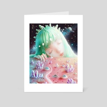 Crystal Dream Planet - Art Card by Saccstry