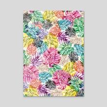 Tropical Monstera Leaves Multi - Acrylic by Ninola Design