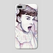 Purple Scream - Audrey Hepburn - Phone Case by Olga Shvartsur