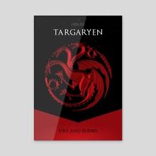 House Targaryen - Acrylic by Nikita Abakumov