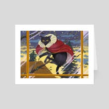 velvet cape - Art Card by Süti Halmágyi