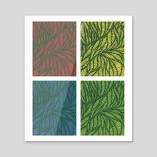 Psychological Primaries Window - Acrylic by Elsie Greer