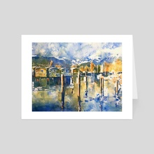 Mosquito Creek Marina - Art Card by Tim Bennison