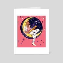 Mr. Moon - Art Card by Lucian Kuranz