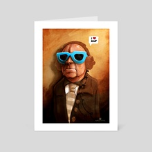 i love rap - Art Card by Matthias Derenbach