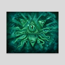 Eye of Truth - Canvas by Adam S Doyle