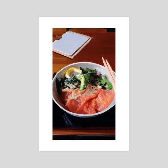 Salmon don by Kay Tang