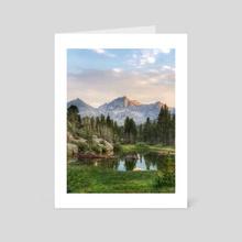 Eastern Sierras - Art Card by Salem Congdon
