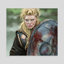 Lagertha - Vikings - Canvas by Haley bbanditt Wakefield