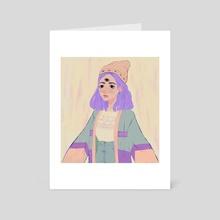 Hippie third eye - Art Card by makoee