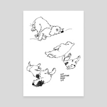 Sleeping Dogs - Canvas by Brogan Bertie