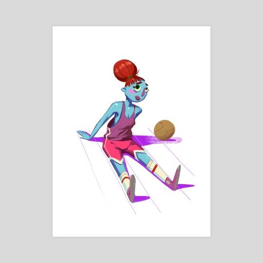 Sporty In Purple  by David René Christensen