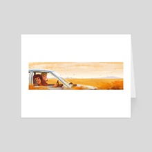 Road Trip - Art Card by Dominic On
