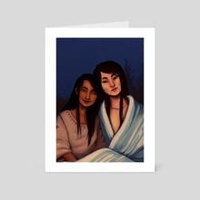 fireside - Art Card by Siobhan