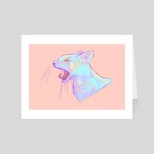 Sleepy Kitty - Art Card by Milky Melon