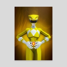 Yellow Ranger - Canvas by Jonathan Lam