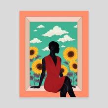 Sunflower - Canvas by Stephanie Singleton